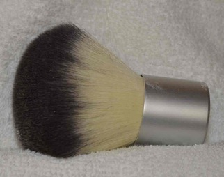 Brush used to apply starch to underarms before Botox injections